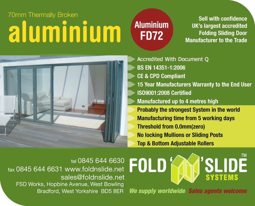 70mm Thermally Broken Aluminium FD72 From Fold N Slide